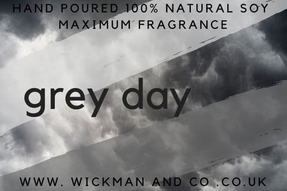 Grey Day Soy Wax Candle